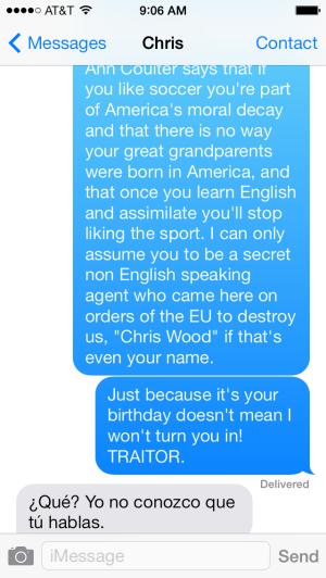 textcerpt soccer conversation