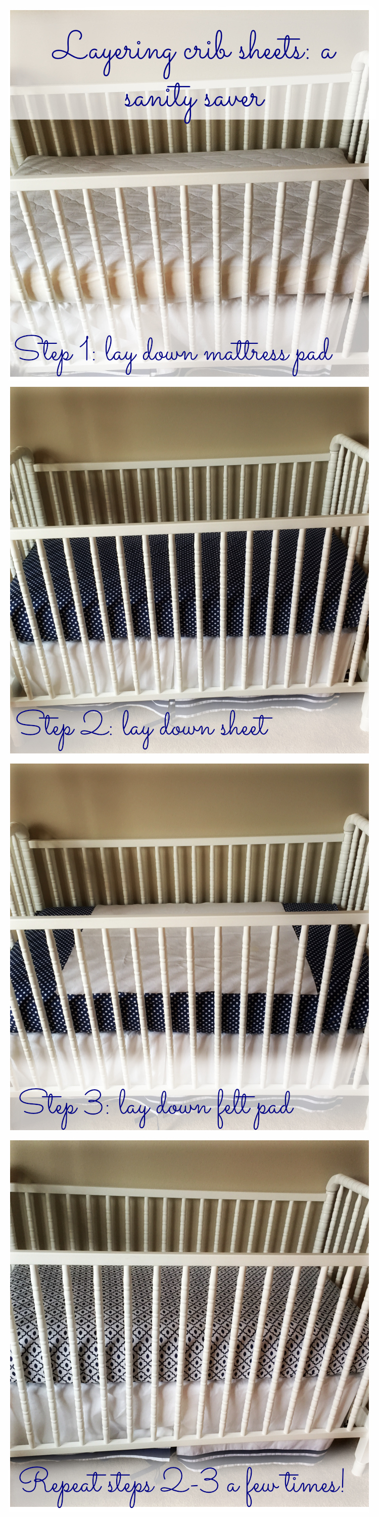 Making baby's bed