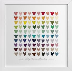 minted heart custom