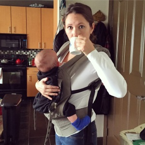 coffee break baby wearing